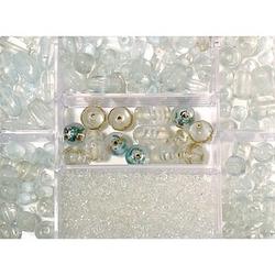 Rayher Perlen-Set Glasperlenbox bergkristall