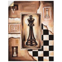 Artland Wandbild Schach König, Schach (1 Stück) 60 cm x 80 cm