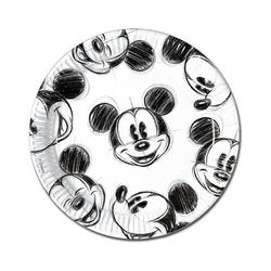 Procos Teller Pappteller Mickey Faces 23 cm, 25 Stück