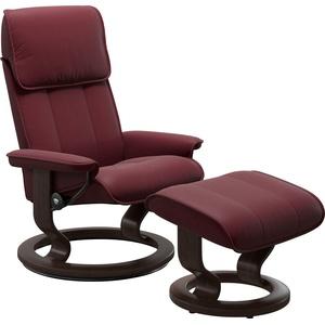 Stressless® Relaxsessel Admiral (Set, Relaxsessel mit Hocker), mit Hocker, mit Classic Base, Größe M & L, Gestell Wenge rot 78 cm x 108 cm x 73 cm