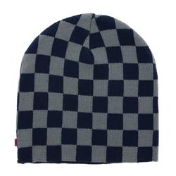 C3 Beanie C3 Beanie Retro Skater-Mütze Strick-Mütze Winter-Mütze Navy/Grau