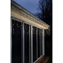Konstsmide LED Lichtervorhang-Eisregen 24V Lichtervorhang Bernstein