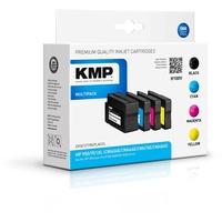 KMP H100V kompatibel zu HP 950XL schwarz + 951XL CMY