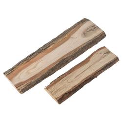 matches21 HOME & HOBBY Dekofigur Dekobretter Schwartenbretter Holz Deko (1 Stück) 35 cm x 2 cm x 10 cm