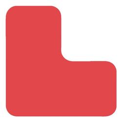 Stellplatzmarkierung »L-Stück PVC« rot, EICHNER