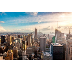 Papermoon Fototapete New York City Skyline, glatt 3,5 m x 2,6 m