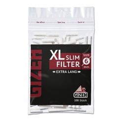 GIZEH Black XL Slim Filter 6mm 100er