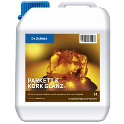 Dr. Schutz® Parkett und Kork Glanz, Für die Erstpflege und Auffrischung versiegelter Holz- und Korkböden, 5 l - Kanister