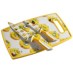 """Genius Messerblock Genius - Schneid-Set """"Zitrone"""" Schneidbrett Küchenmesser Kochmesser 21215"""