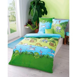 KAEPPEL Dschungel Biber grün (135x200+80x80cm)