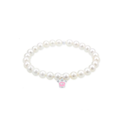 Elli Armband Kids Krone Perle Kristalle 925 Silber