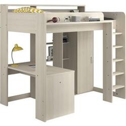 Parisot Hochbett mit integriertem Schreibtisch  und Schrank - Higher