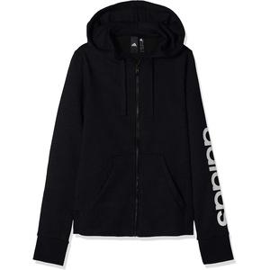 adidas Damen Sweatshirt W E LIN FZ HD, Negro/Blanco, 2XS, DP2401
