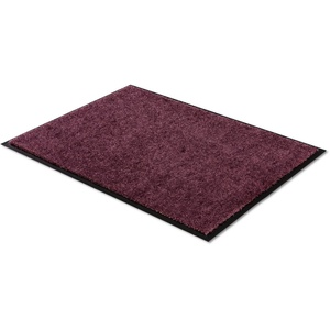 Fußmatte Miami Uni, SCHÖNER WOHNEN-Kollektion, rechteckig, Höhe 7 mm, waschbar rot 50 cm x 70 cm x 7 mm