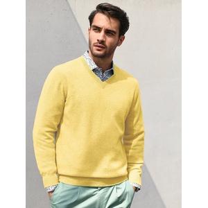 V-Pullover aus 100% Premium-Kaschmir Peter Hahn Cashmere gelb