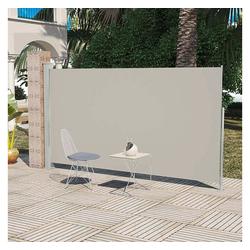 vidaXL Sonnenschirm Terrassenmarkise Seitenmarkise 160 x 300 cm Creme weiß