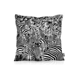 Kissenbezug, VOID, Zebraherde Outdoor Indoor Zebra Savanne streifen 60 cm x 60 cm