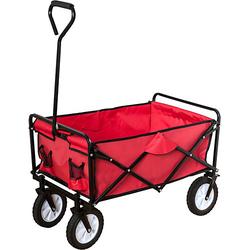 Bollerwagen, rot, faltbar
