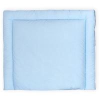 KraftKids Wickelauflage weiße Punkte auf Hellblau, Wickelunterlage 60x70 cm x 70 cm