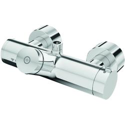 Schell Vorwand-Duscharmatur VITUS VD-SC-T/o chrom, Selbstschluss Thermostat, Duschanschluss oben mit Desinfektion