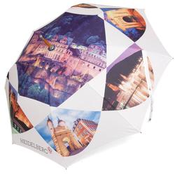 ROSEMARIE SCHULZ Heidelberg Stockregenschirm Regenschirm Stockschirm mit Motiv Heidelberg, Solider Regenschirm