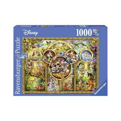 Ravensburger Puzzle Puzzle 1000 Teile, 70x50 cm, Die schönsten Disney, Puzzleteile
