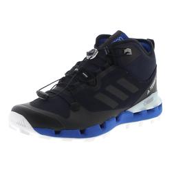 adidas TERREX FAST MID Black Blue White Herren Wanderstiefel, Grösse: 47 1/3 (12 UK)
