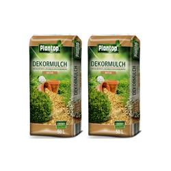 Plantop Dekormulch 2 x 50 Liter Natur Rindenmulch