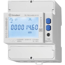 Finder 7E.78.8.400.0112 Drehstromzähler MID-konform: Ja Tray 5St.