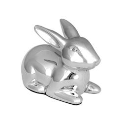 Brillibrum Dekofigur Design Hasen Figur versilbert Osterhasen Deko Häschen in Silber kleine Dekofigur Papa Mama Kind Hase stehend