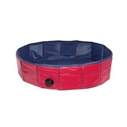 Hundepool Doggypool, blau/rot, 160x30 cm
