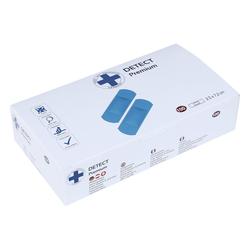 Lüllmann Bandage Wundpflaster Detect blau Elektromagnetisch detektierbar - Detect blau VE.100Stück 25x72m - Pflaster Strips Wundpflaster Strips Elastic Elektromagnetisch detektierbar (25 x 72 mm)