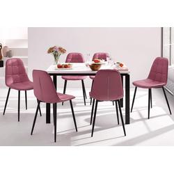 Essgruppe (Set, 5-tlg) rosa Essgruppen Tische Sitzmöbel-Sets