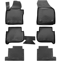 Walser Passform-Fußmatten XTR (6 Stück), VW Touran Großr.lim., für VW Touran I, II, 7 Sitze BJ 2003 - 2010, 2010 - 2015