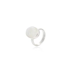 silvery Fingerring Ring Regenbogenmondstein Mondstein Silber 925 58