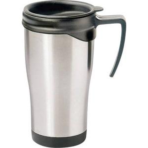 MATO Axel Thermobecher Edelstahl (gebürstet), Schwarz 0.4l 4100