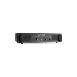 skytec SPL-300 DJ PA-Verstärker 2-Kanal-Verstärker 2 x 150 Watt LED Verstärker schwarz 48 cm x 8.8 cm x 29 cm