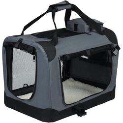 EUGAD Tiertransporttasche Hundebox faltbar Hundetransportbox Reisebox Grau, 102 cm x 69 cm x 69 cm 102 cm x 69 cm x 69 cm