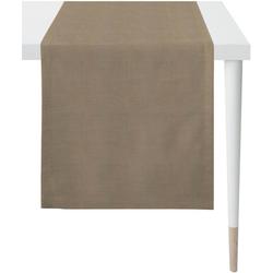 APELT Tischläufer Apart, LOFT STYLE (1-tlg), UNI-BASIC braun