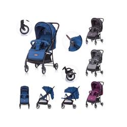 Chipolino Kinder-Buggy Kinderwagen, Buggy Elea, bis 15 kg, verstellbar, gefederte Vorderräder blau