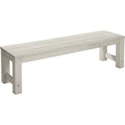 Sitzbank aus Akazienholz, weiß/grau, 165 cm lang Lordi Hellgrau/Weiß