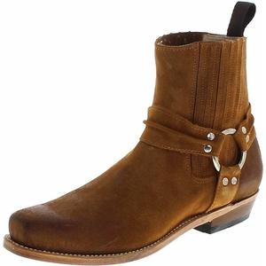 Fashion Boots B2650bf Whisky Damen Und Herren Biker Boots Lederstiefelette Braun