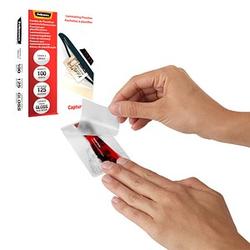 100 Fellowes Laminierfolien glänzend für Kreditkartenformat