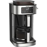 Krups Aroma Partner Kaffeemaschine Schwarz/Edelstahl-Applikationen