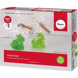Kreativ-Set Daily Soap - Froschkönig, Material 2 Seifen weiß/beige  Kinder