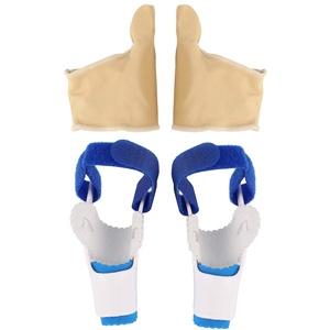 EXCEART Zehenspreizer Bandage Elastische Hallux Valgus Korrektur Zehenspanner Zehenspacer Zehentrenner Fußpflege Werkzeug Zehen Protektor für Damen Herren Größe M 1 Paar