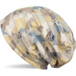 styleBREAKER Beanie Beanie mit Camouflage Muster Beanie mit Camouflage Muster gelb