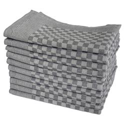 One Home Geschirrtuch Karo, (10-tlg., Grubentücher Set), 100% Baumwolle, Halbzwirn Qualität