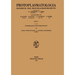 Permeabilitätstheorien als Buch von Runar Collander/ Veijo Wartiovaara