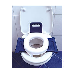 VCM Toilettentrainer WC Klo Sitz Toilettendeckel Kinder Baby Toilet Seat 2in1 Mobile Klobrille Deckel Brille Klositz VCM WC-Sitz Deckel (Farbe: Weiß)